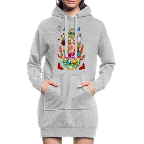 Lady spring -by- t-shirt chic et choc - Sweat-shirt à capuche long Femme