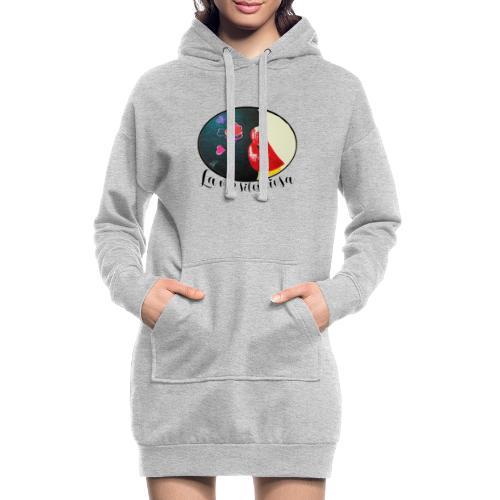 La Voz Silenciosa - Besos - Sudadera vestido con capucha
