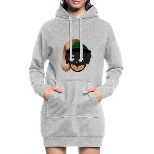 Baby-Rottweiler mit grüner Wadelkappe - Hoodie-Kleid