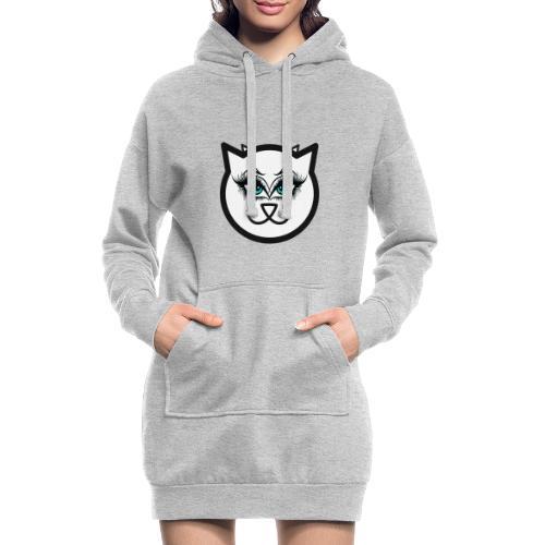 Hipster Cat Girl by T-shirt chic et choc - Sweat-shirt à capuche long Femme