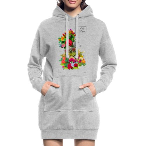 Lady flower -by- T-shirt chic et choc - Sweat-shirt à capuche long Femme