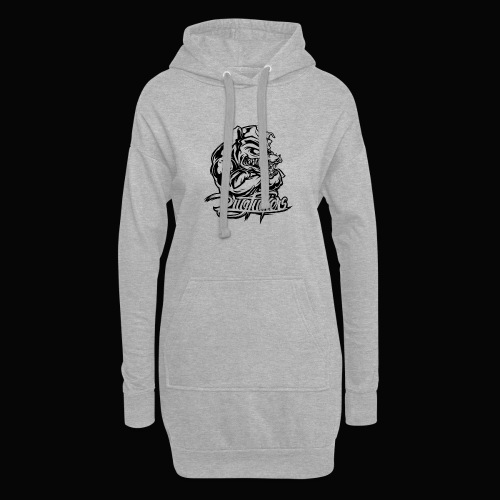 Drug_Fuckers_Logo _-_ Composition_01-_black - Hoodie Dress