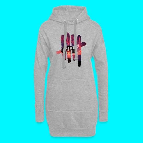 fives tree - Sweat-shirt à capuche long Femme