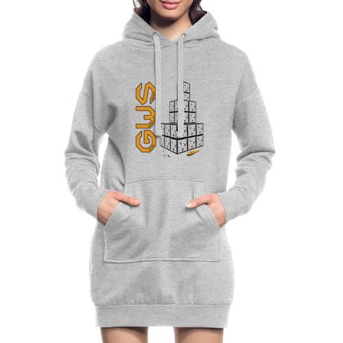 Bonhomme de neige moderne - Sweat-shirt à capuche long Femme