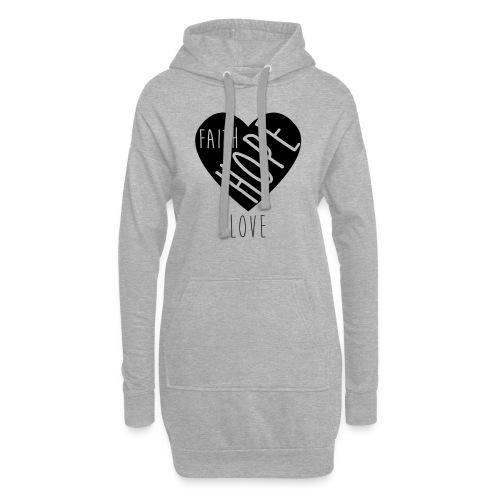 Faith Hope Love - Heart - Hoodie-Kleid