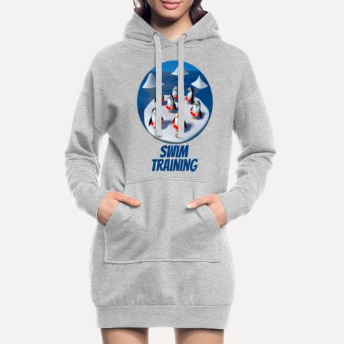 Pinguine beim Schwimmunterricht - Hoodie Dress