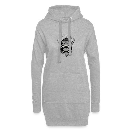 CRAZY MONKEY collection - Sweat-shirt à capuche long Femme