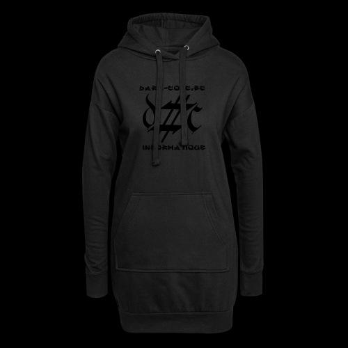 Dark-Code Black Gothic Logo - Sweat-shirt à capuche long Femme