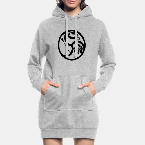 Triskele triskelion BDSM Emblem HiRes 1 color - Hoodie-Kleid