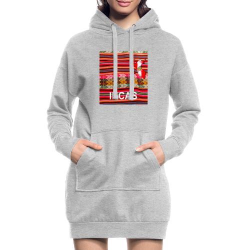 Telar inca Mapa del Peru - Sweat-shirt à capuche long Femme