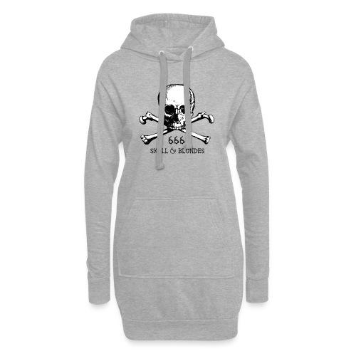 skull & blondes (black) - Hoodie-Kleid