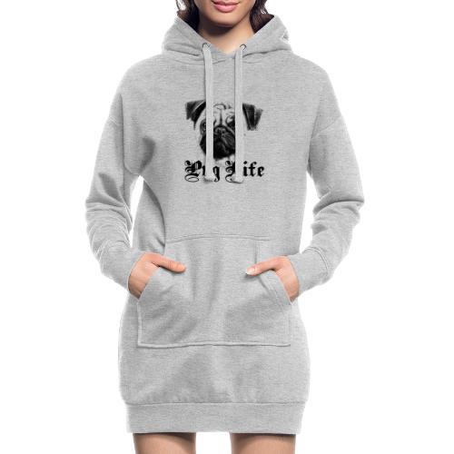 La vie de carlin - Sweat-shirt à capuche long Femme