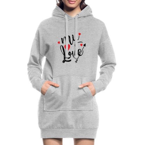 My love - Hoodie-kjole