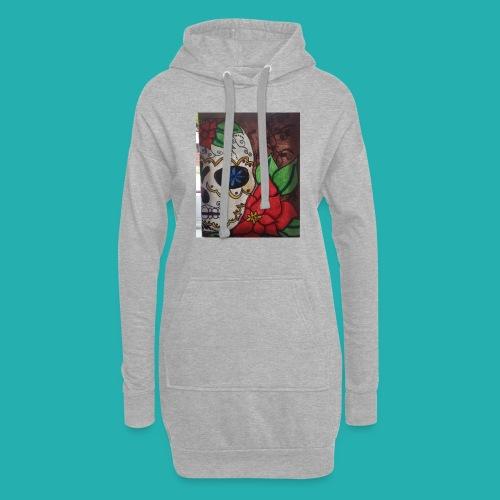 flower-skull - Hoodie Dress