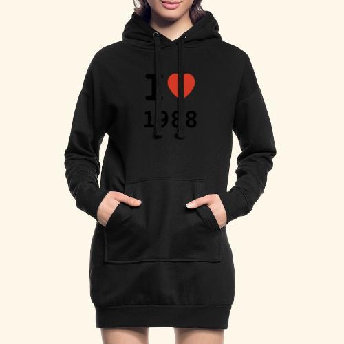 I Love 88 b 001 - Hoodie-Kleid