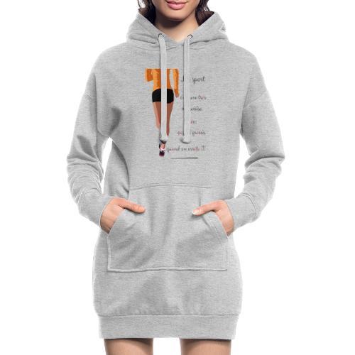 Sport et le régime - Sweat-shirt à capuche long Femme