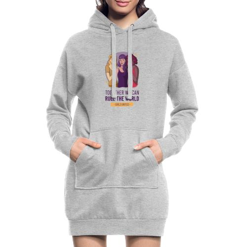 t shirt design generator featuring three women - Sudadera vestido con capucha
