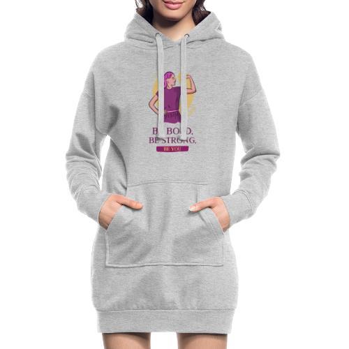 t shirt design generator featuring an empowered - Sudadera vestido con capucha