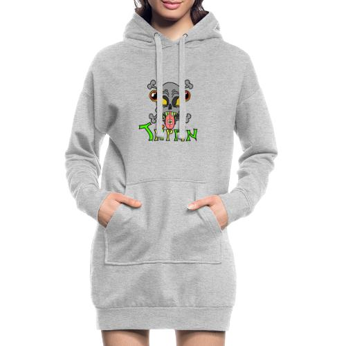 Totenkopf Trippin Design - Hoodie-Kleid