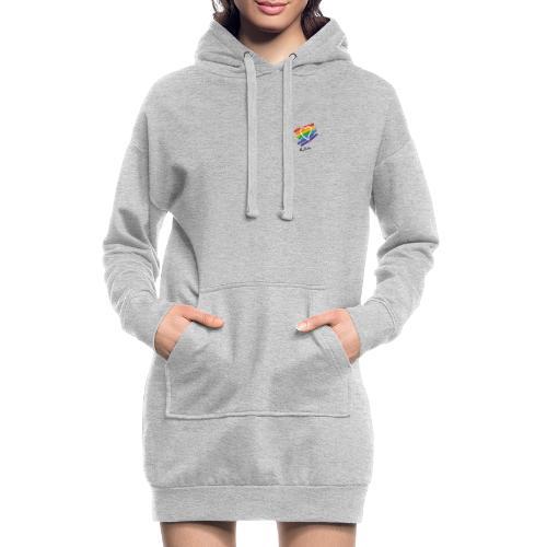 Rita color - Sudadera vestido con capucha
