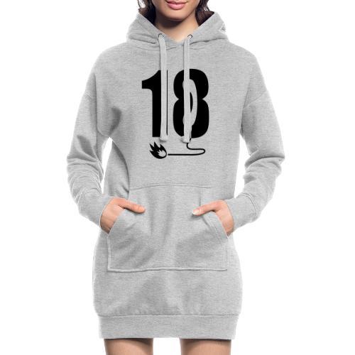18 - Sweat-shirt à capuche long Femme