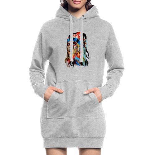 Pióra i pióropusze - Długa bluza z kapturem