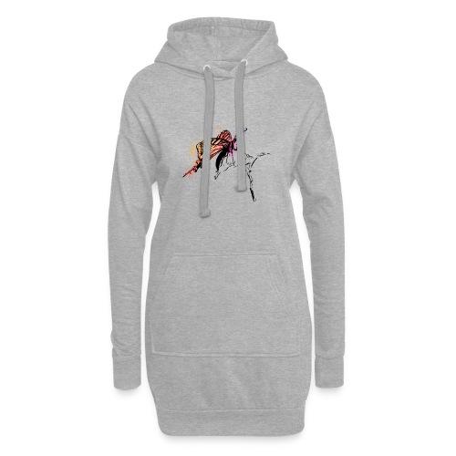 Schmetterling in Aquarelloptik - Hoodie-Kleid