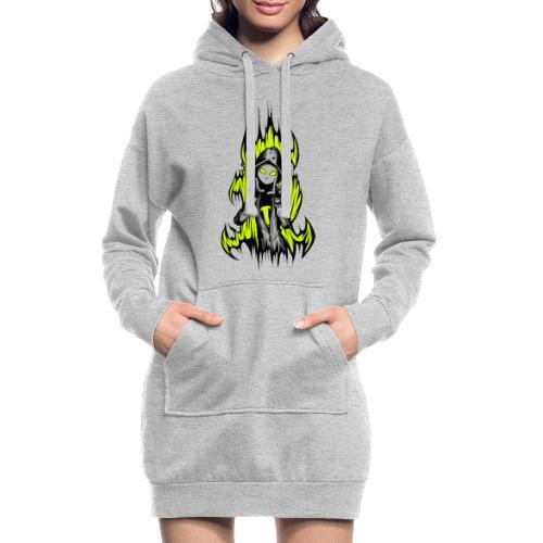 KRASS mit Flamme - Hoodie-Kleid