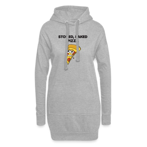 Stoned, Baked Pizza - Hoodie Dress