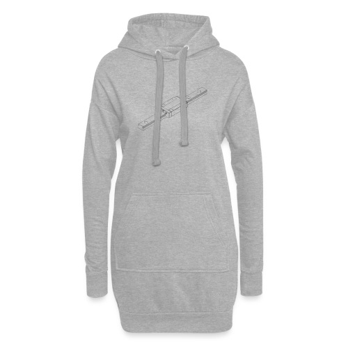 Rail and Block (no text). - Hoodie Dress