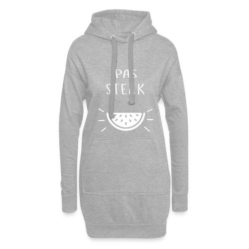Idée cadeau Humoristique - PAS STEAK - Sweat-shirt à capuche long Femme