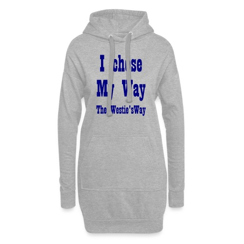 I chose My Way Navy - Hoodie Dress