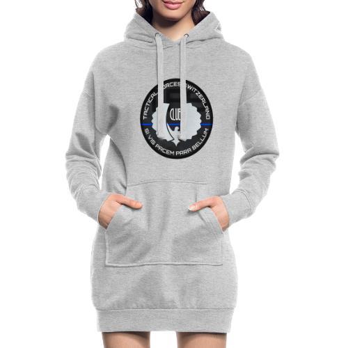 TFS Badge gris - Sweat-shirt à capuche long Femme