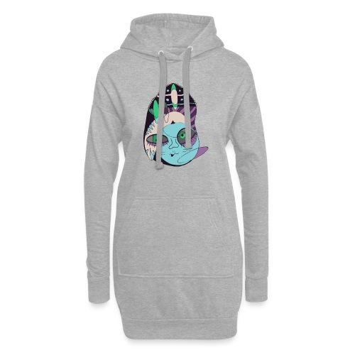 Space hipster - Sudadera vestido con capucha
