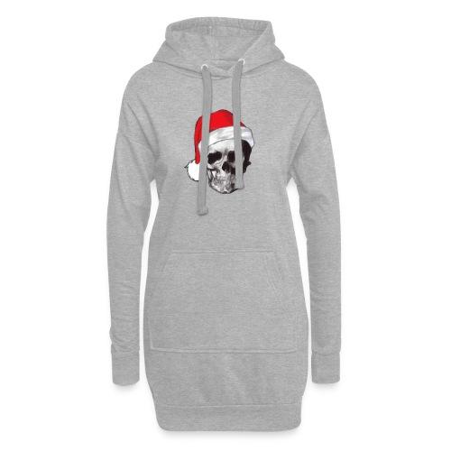 weihnachten-skull Weihnachtsmann - Hoodie-Kleid