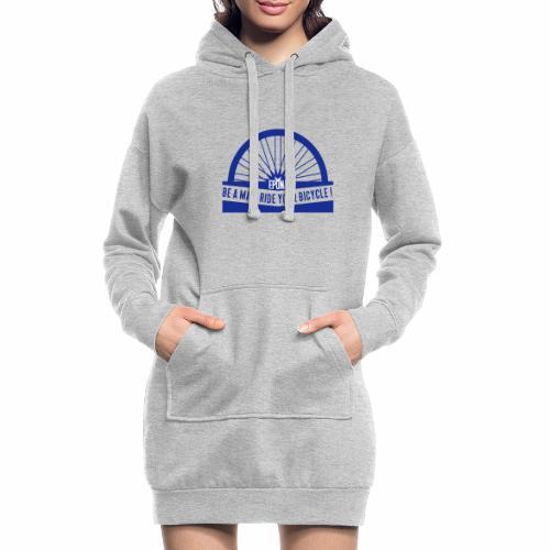 be a man - Sweat-shirt à capuche long Femme
