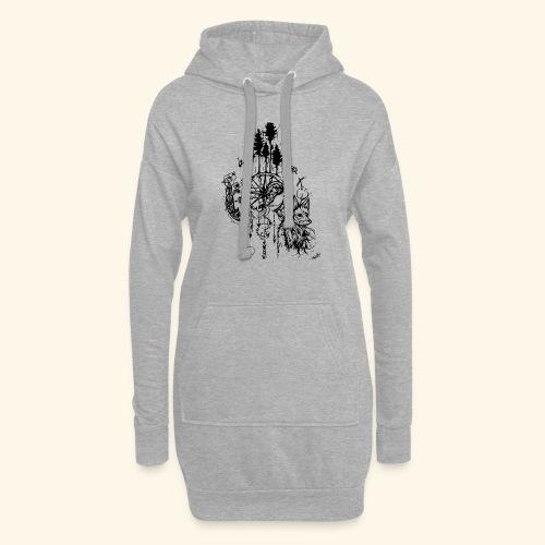 renard nature - Sweat-shirt à capuche long Femme