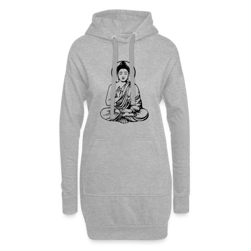 Buddha-Vektor-Outline - Hoodie-Kleid