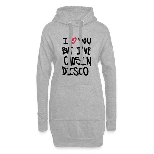 I love you but disco... - Hoodie-Kleid