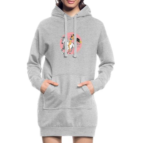 unicorn laser bikini girl - Hoodie Dress
