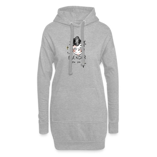 Too Agender for You - Sweat-shirt à capuche long Femme