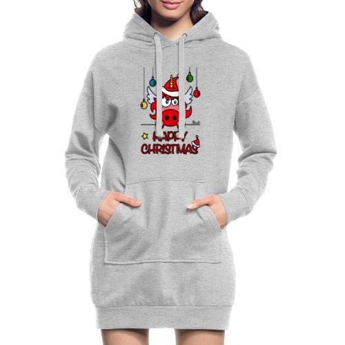 Unicorn Happy Christmas, Licorne Noël - Sweat-shirt à capuche long Femme