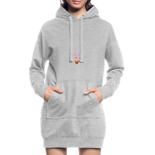 I LOVE CUPCAKES - Sudadera vestido con capucha