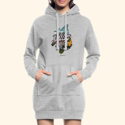 Whisky from Islay Peat of my Heart Tattoo Style - Hoodie-Kleid