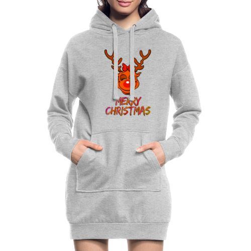 Rudolph weiblich - Hoodie-Kleid
