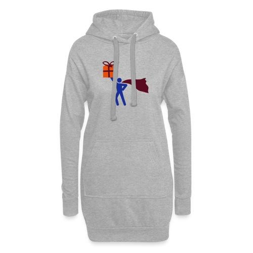 geschenk HEH 3 farb vektor - Hoodie-Kleid
