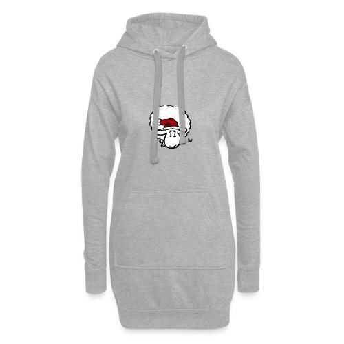 Weihnachtsschaf (rot) - Hoodie-Kleid