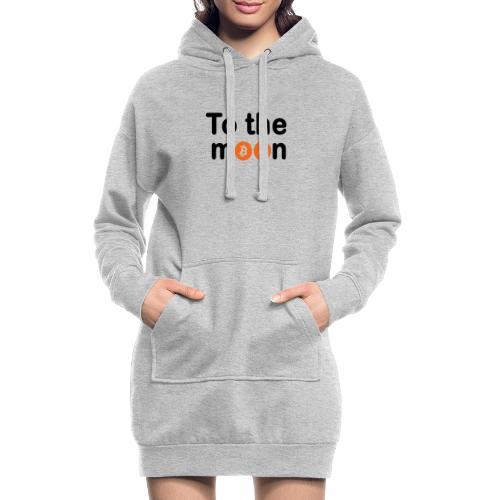 To the moon orange - Sweat-shirt à capuche long Femme