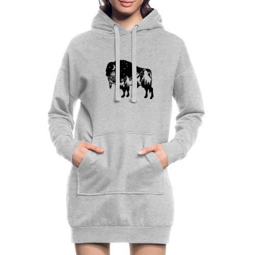 Die wilde Natur im Bison - Hoodie-Kleid