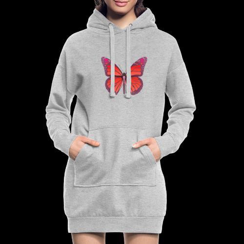 D28 monarch butterfly red lajarindream 4500px - Sudadera vestido con capucha